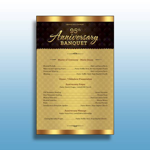 church anniversary banquet program