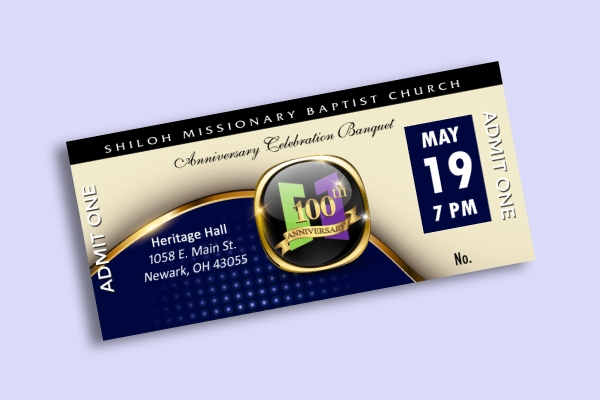 church anniversary banquet ticket