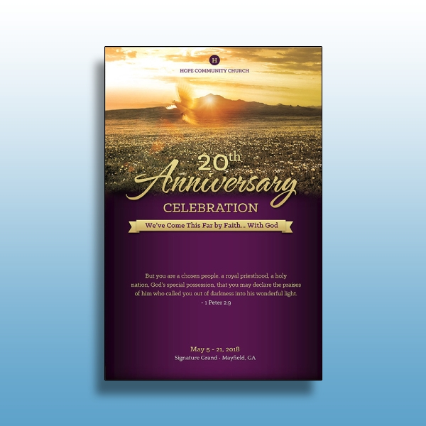 church anniversary single sheet progra