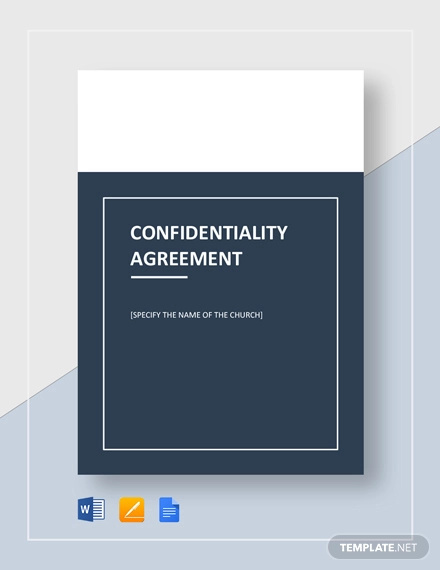 church confidentiality agreement template 1