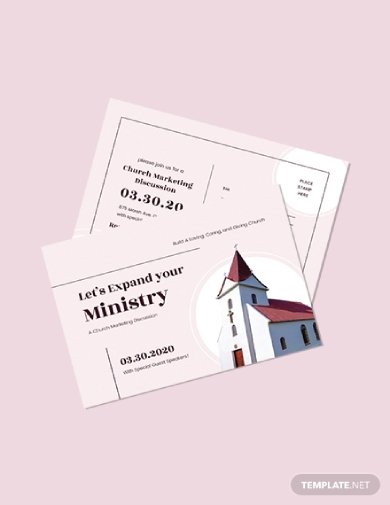 church marketing postcard