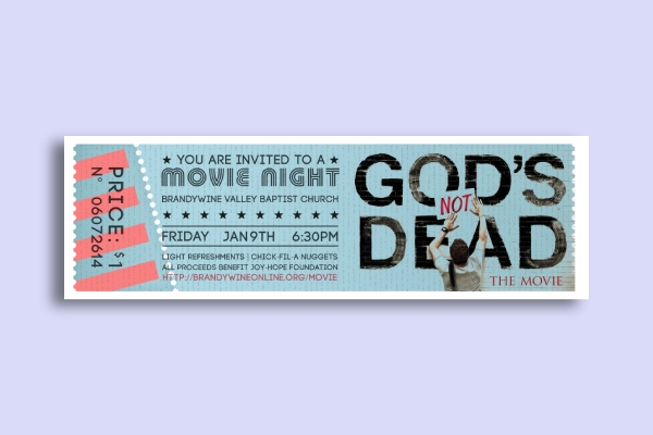church movie night ticket