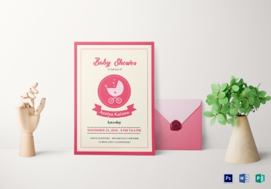 classic baby shower invitation