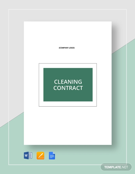 cleaning real estate contract template