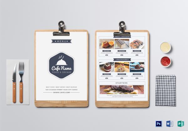 club cafe menu