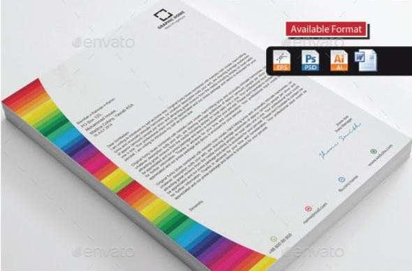 colorful real estate letterhead bundle