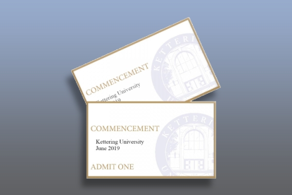 commencement ceremony ticket