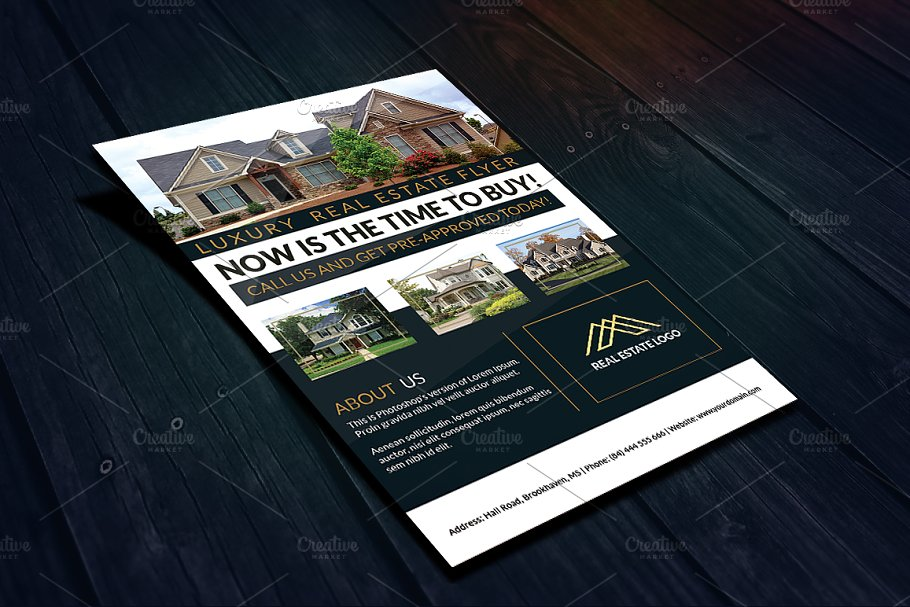 commercial luxury real estate flyer