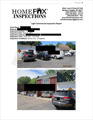 commercial property inspection report