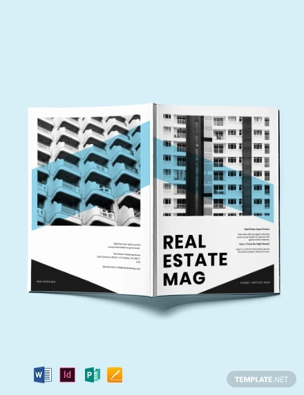commercial real estate magazine template