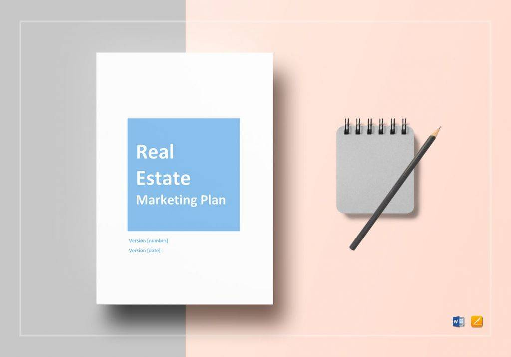 commercial real estate marketing plan template 1024x717