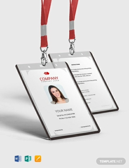 commercial real estate property id card template1