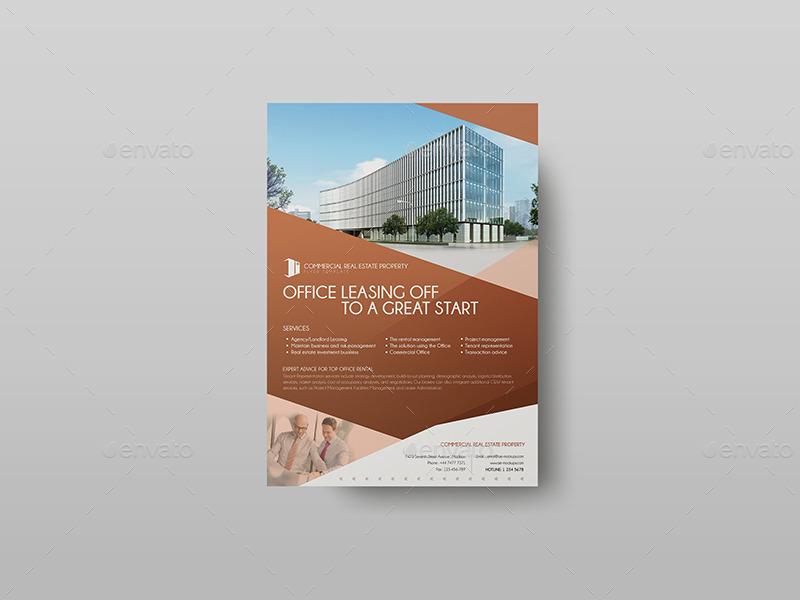 commercial real estate property marketing flyer