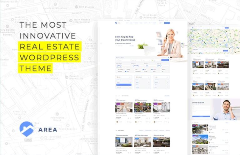 commercial real estate wordpress template for agencies