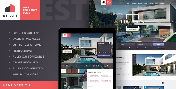 commercial real estate wordpress template for rental properties