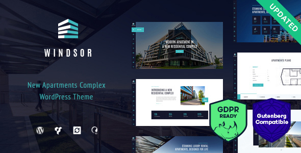 commercial real estate wordpress template for apartment
