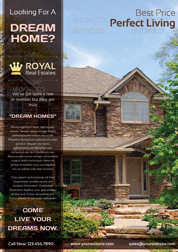 commercial royal real estate marketing flyer