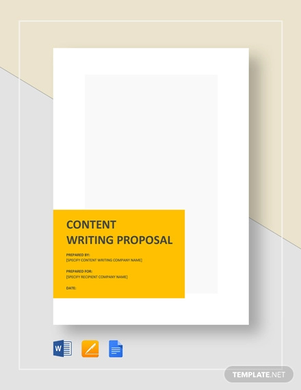 content writing proposal template