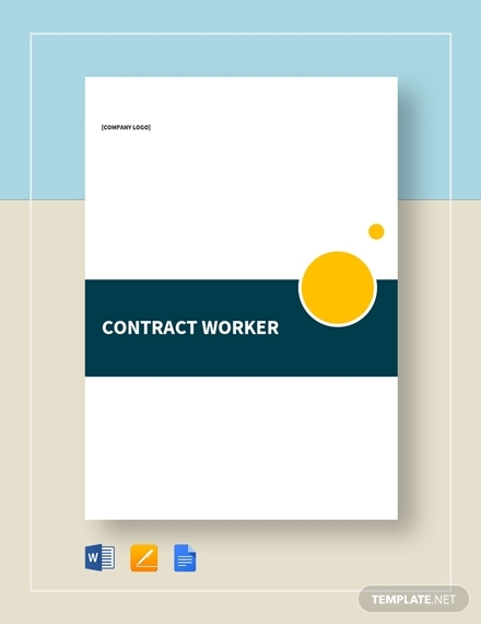 contract worker real estate contract template
