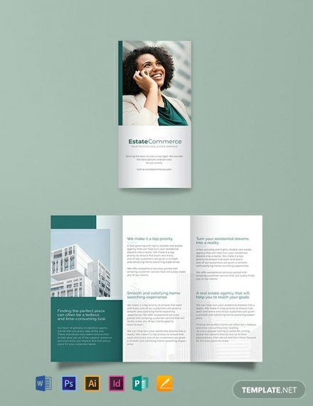 corporate commercial real estate brochure template