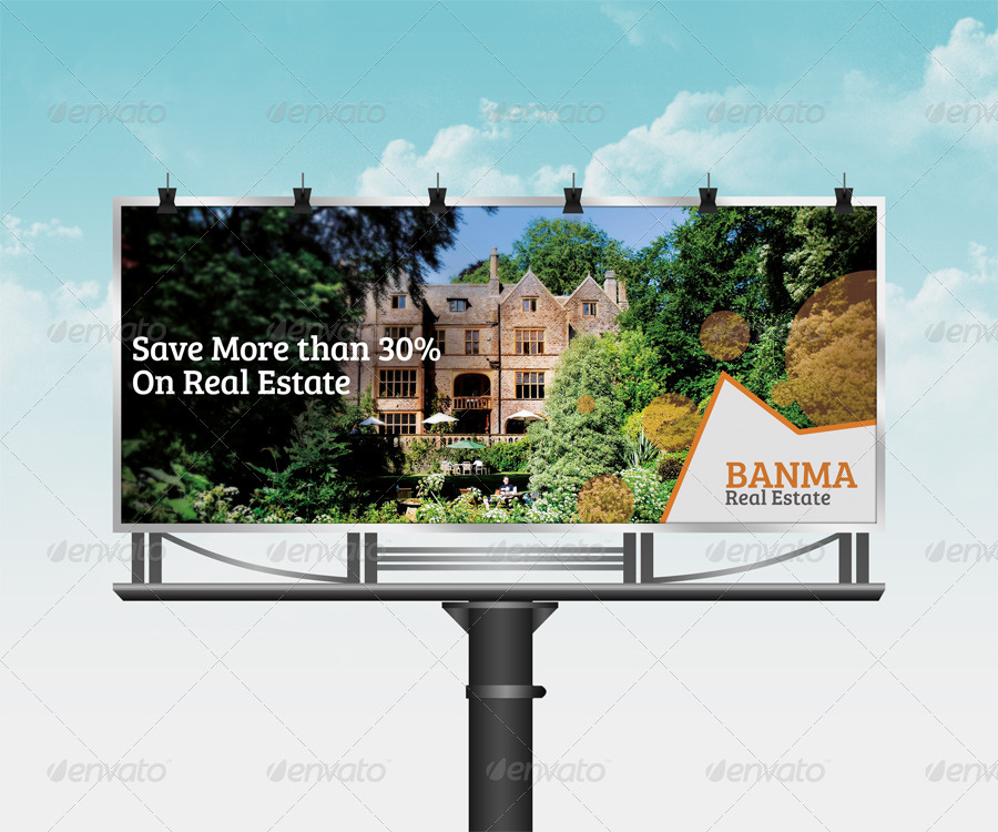 corporate real estate billboard template