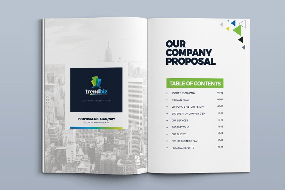 corporate real estate proposal template