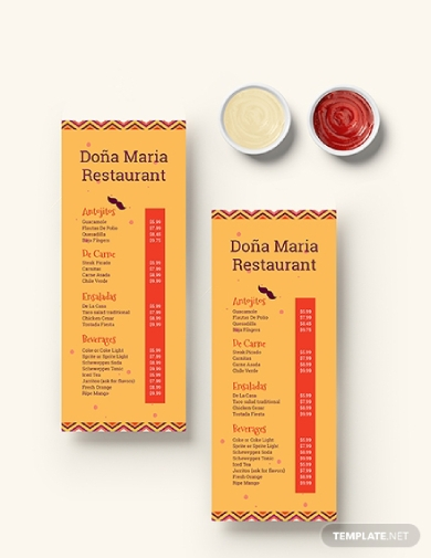 creative mexican food menu