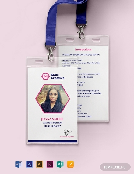 creative real estate agency id card template