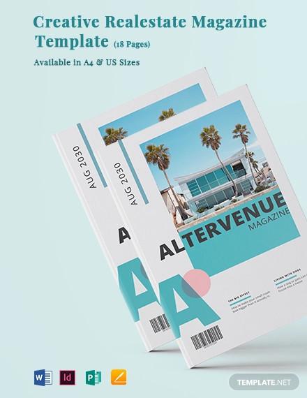 creative real estate magazine template1