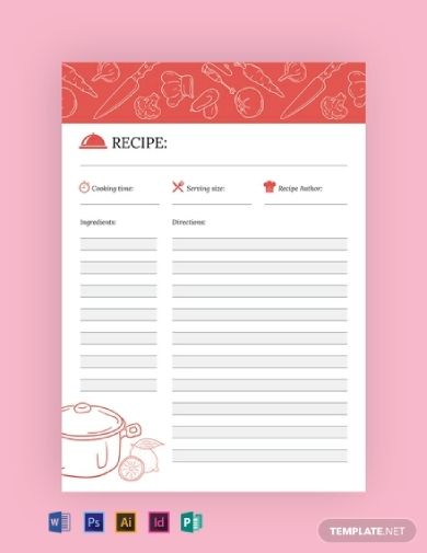 creative recipe journal
