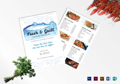 creative seafood menu