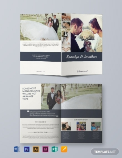 creative wedding bi fold brochure