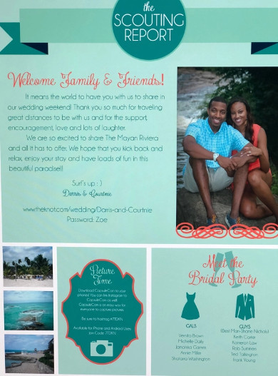 creative wedding welcome letter1
