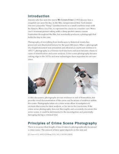 crime photography shoot plan