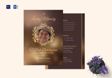 customizable funeral obituary announcement