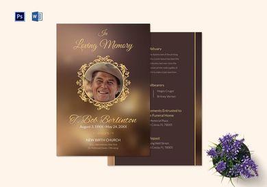 customizable funeral obituary announcement