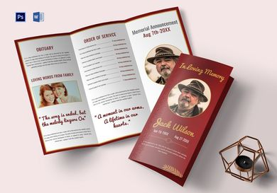 customizable funeral trifold brochure