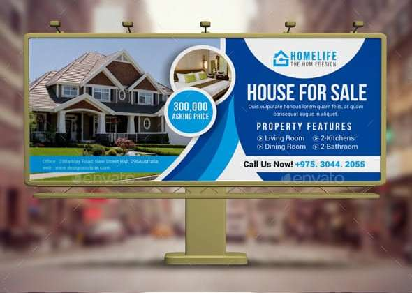 customizable real estate billboard design