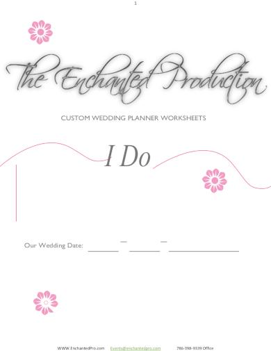 customizable wedding planner