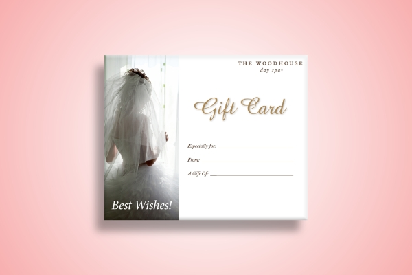 day spa wedding gift card
