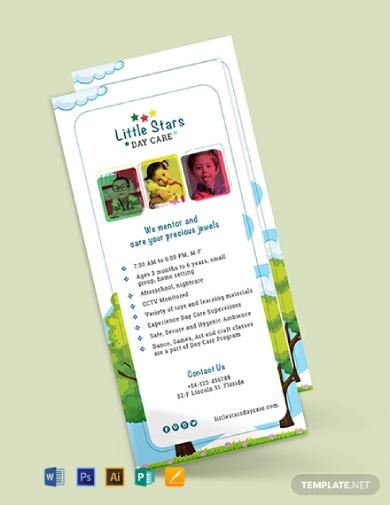 daycare rack card