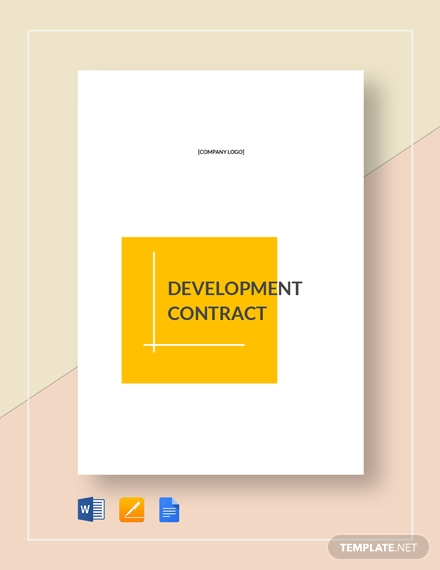 develpoment real estate contract template