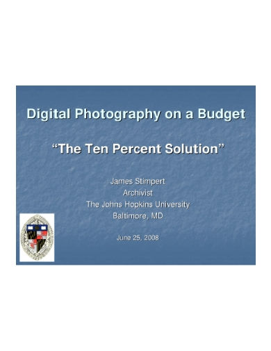 digital photography budget guide