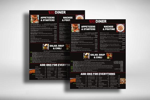 diner dinner menu