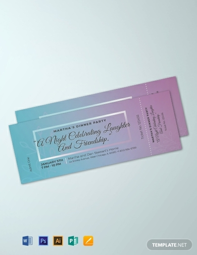 dinner party ticket