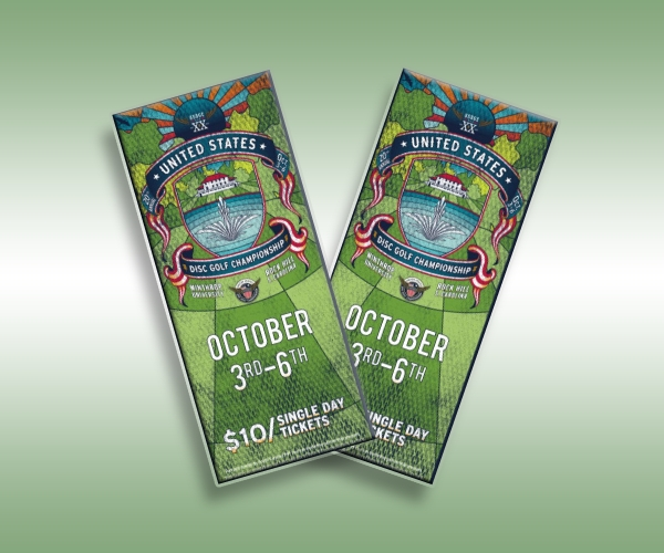 disc golf championship ticket