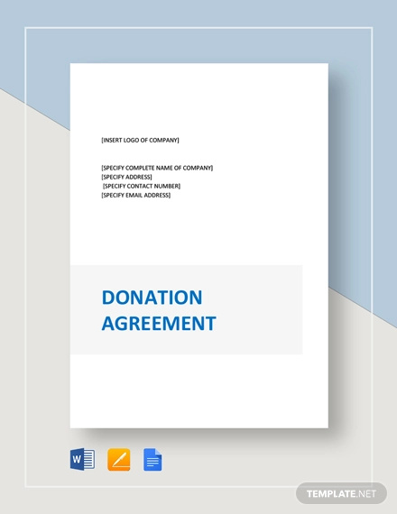 donation agreement template