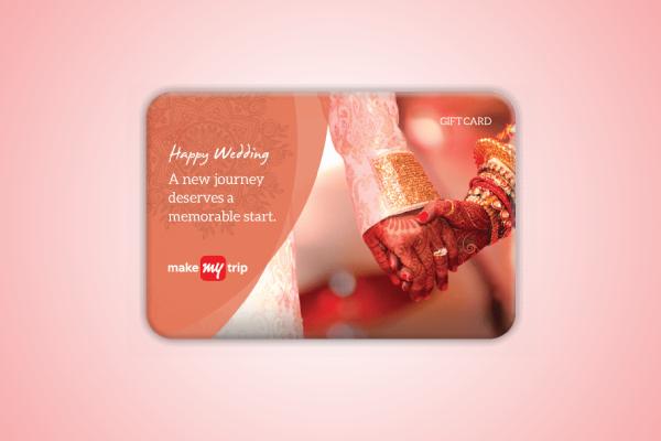 dream holiday wedding gift card