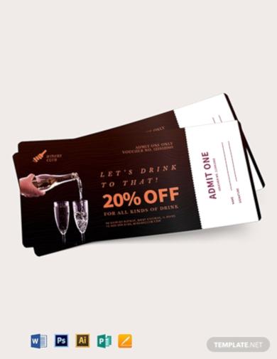drink ticket voucher
