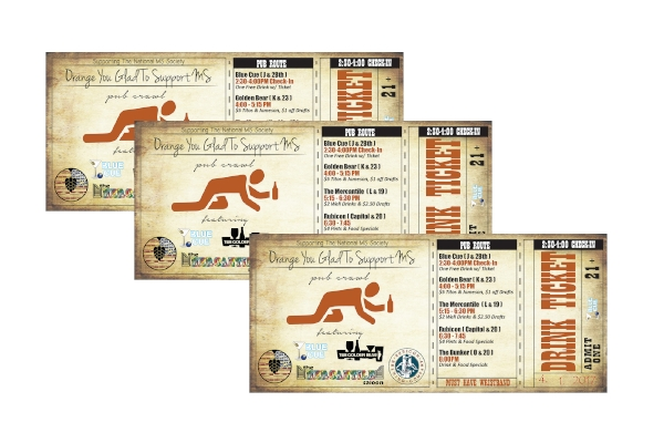 drink ticket for charity event